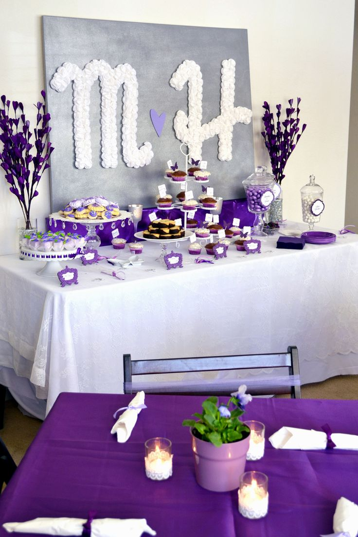 purple themed bridal shower%0A Purple Bridal Shower Decorations Ideas  Read more at the image link