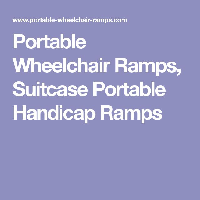 Portable Wheelchair Ramps, Suitcase Portable Handicap Ramps