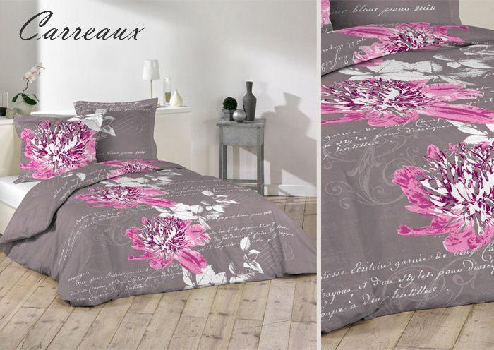 Różowe kwiaty beżowe pościele francuskie z bawełny