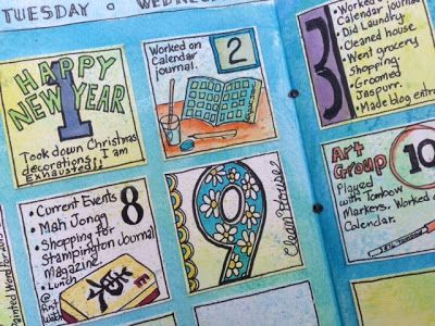 Calendar journal by Ginny Markley