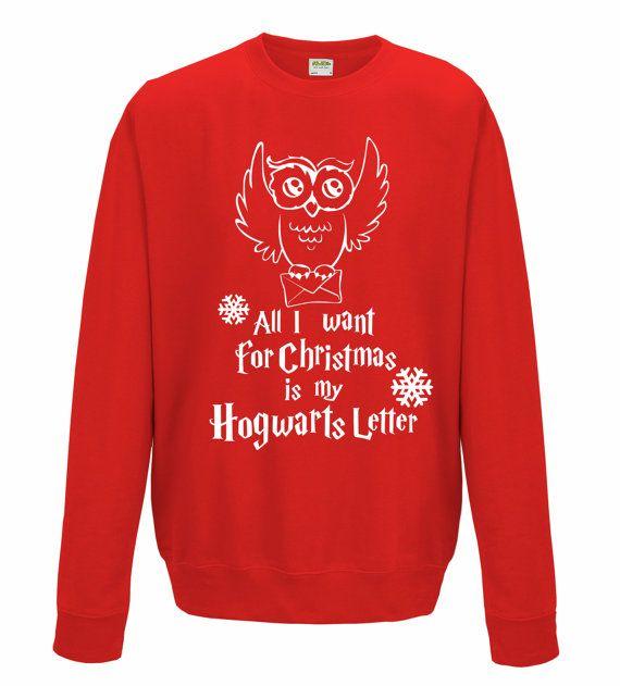 Harry Potter inspired  unisex Sweatshirt with owl by iganiDesign
