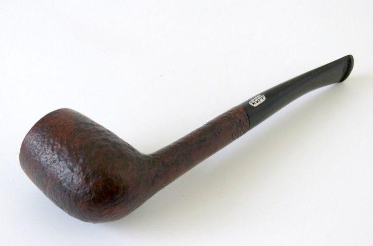 Estate Tobacco Smoking Pipe, France Ropp 89 Pompei, Sandblasted Briar Slim Billiard