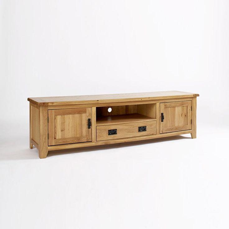 Westbury Reclaimed Oak TV Cabinet (Sizes Medium, Wide) - Wide - TV Unit - Ametis - Space & Shape - 3