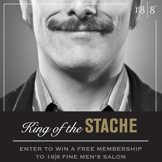 LAST DAY to enter and WIN one of 5 Memberships to 18|8! Enter a photo of your 'Stache now! 💈 Link in bio ✂️#Movember #contest #winner #menssalon #stache #moustache #beard #mensgrooming #win #competition #menshair #men #style #hairstyle #barber #barbering #stylist #membership #irvine #costamesa #pasadena #california #arizona #nj #ny #austin #dallas #instaphoto #instacontest