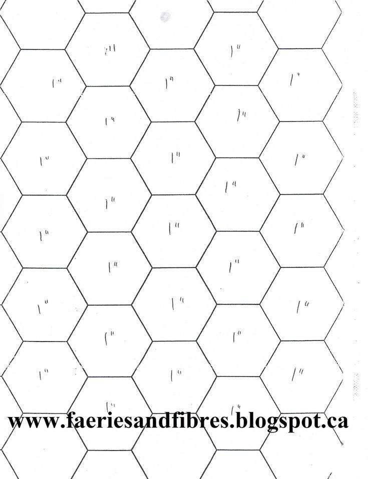 23 best HONEY BEE QUILT images on Pinterest   Bee, Crown and ... : quilt hexagon template - Adamdwight.com