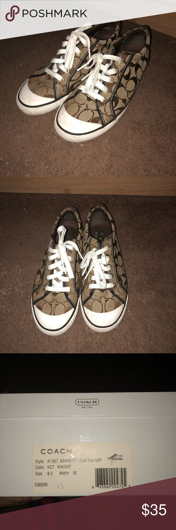 Preowned Women's COACH sneakers in size 8.5 Preowned Women's COACH sneakers. Sold as is with box. Size 8.5 Coach Shoes Sneakers