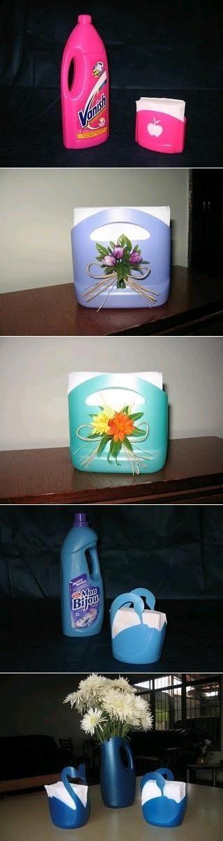 DIY Plastic Bottle Napkin Holder by jillith