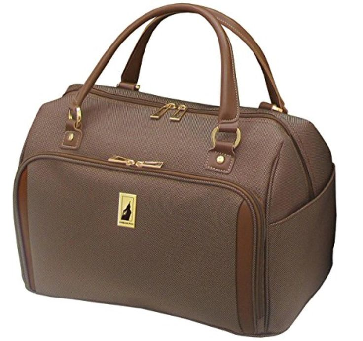London Fog Kensington 17 Inch Deluxe Cabin Bag, Bronze, One Size - Brought to you by Avarsha.com