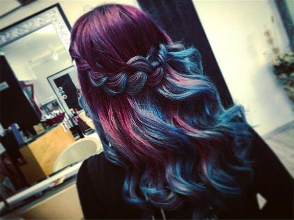 20 Galaxy Hair Color Ideas,the Breathtaking Beauty