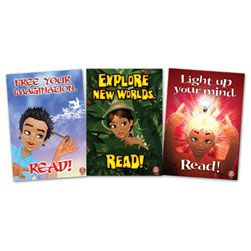 Reading Rewards Posters set 1