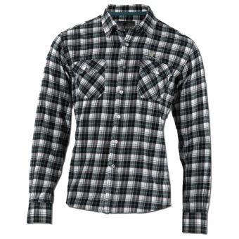 Wolf Camper Man Langarm-Hemd Forest - schwarz/weiß/türkis kariert - Outdoorhemd, Outdoorbekleidung, OutdoorShop