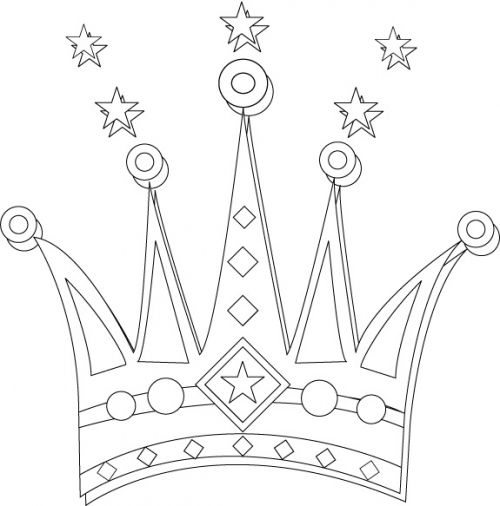 Crown Coloring Pages 500x506