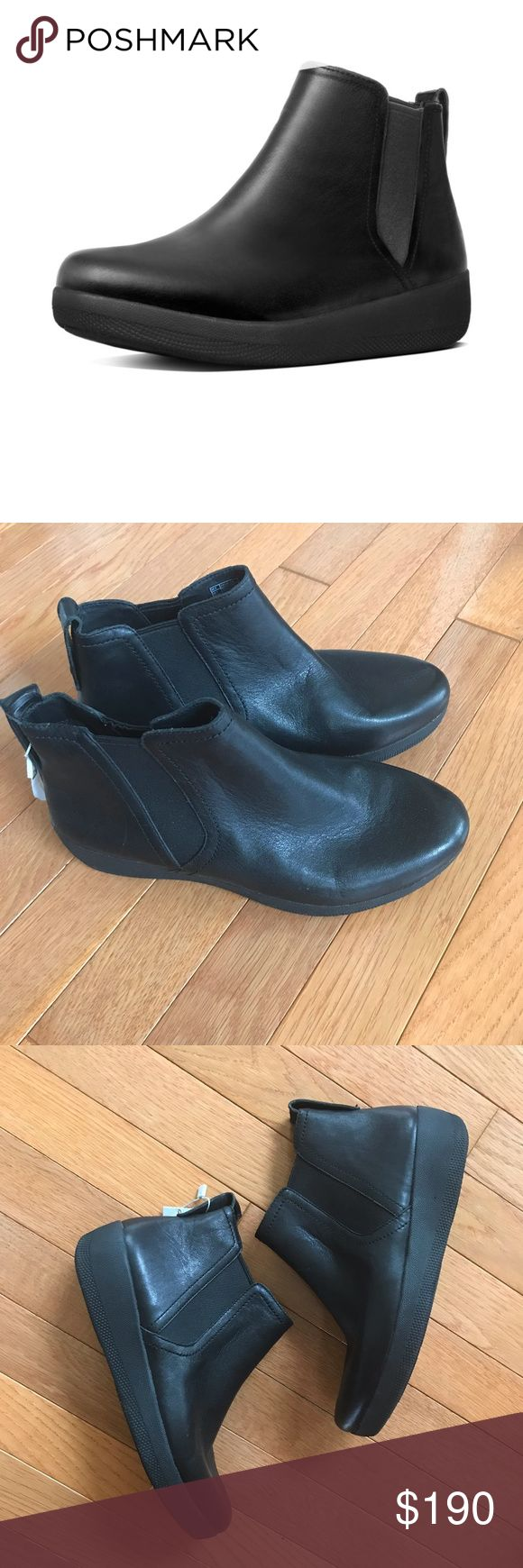 FITFLOP Womens Superchelsea Leather Chelsea Boot 7 FITFLOP Womens Superchelsea Leather Chelsea Black Boots Light Comfort Cushion Size 7 New with tag, no box Fast shipping Fitflop Shoes Ankle Boots & Booties