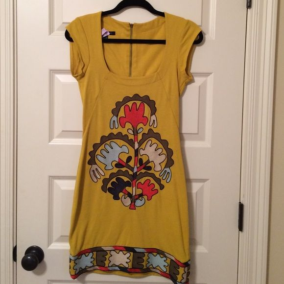 French Connection dress Mustard colored dress with awesome detail French Connection Dresses