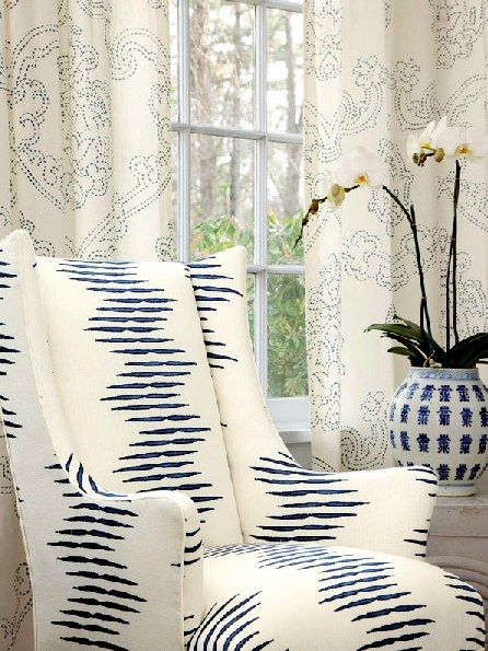Hodsoll-McKenzie fabrics. I am once again love with navy and white color schemes.