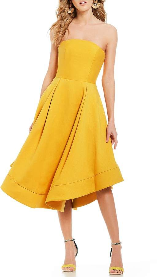 C/MEO Making Waves Strapless Fit and Flare
