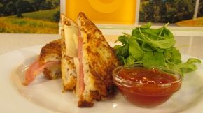 Gluten Free Champagne Ham and Provolone Croque Monsieur from Loaf's ...