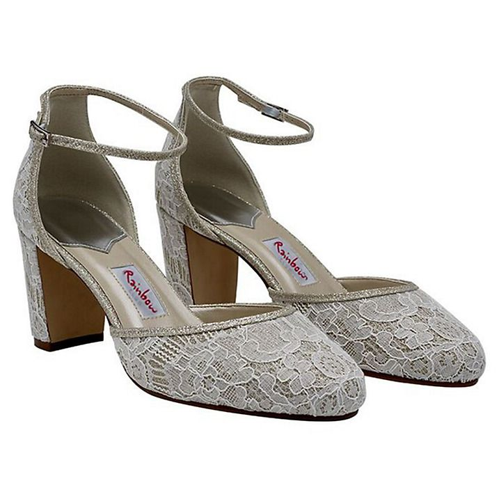 Buy Rainbow Club Lavinia Block Heeled Court Shoes, Ivory, 3 Online at johnlewis.com