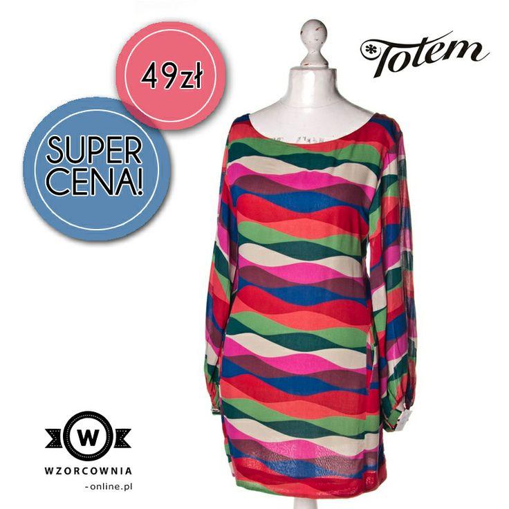 CENA DNIA: Wzorzysta sukienka z długim rękawem #Totem DOSTĘPNA TUTAJ --> http://bit.ly/1c27V9q