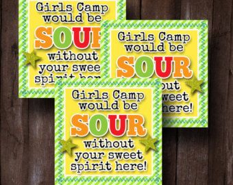 LDS Young Womens Girls Camp Pillow Treats Young Womens