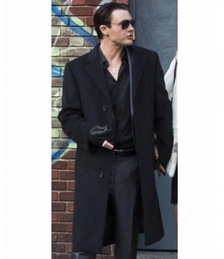 Michael Pitt Black Coat for men for sale At Discounted Price $198.00 only. Rob the Mob Long Coat. Buy Online available in Black Color Made High Quality Cotton Fabric.  #Jacket #MenFashion #Coat #BlackCoat #BlackJacket #RobTheMob #MichaelPitt
