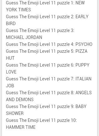 Guess the emoji cheat sheet
