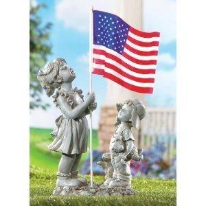 Superb Adorable Patriotic Children Statue! Limited Quantity! Photons!