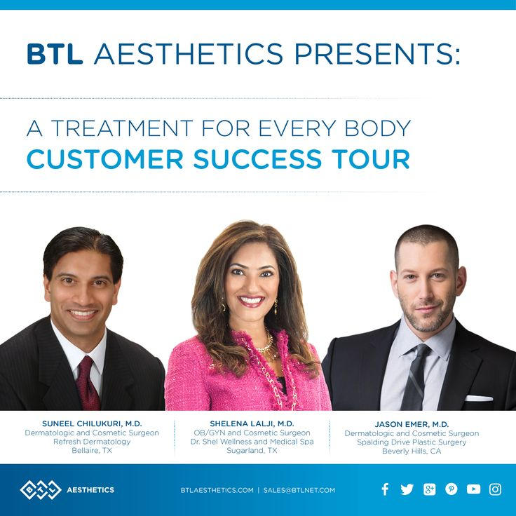 20 days left until the BTL Aesthetics' Customer Success Tour launches in Newport Beach, CA! Come learn clinical and marketing pearls, as well as new applications from Dr. Jason Emer, Dr. Shelan Lalji and Dr. Suneel Chilukuri. We hope to see you!