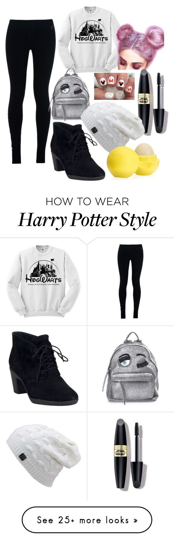 """Tommorow to school"" by andula135 on Polyvore featuring NIKE, Clarks, Chiara Ferragni, Max Factor and Eos"