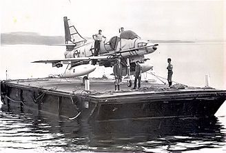 Unloading Skyhawks 1967 , Jervis Bay