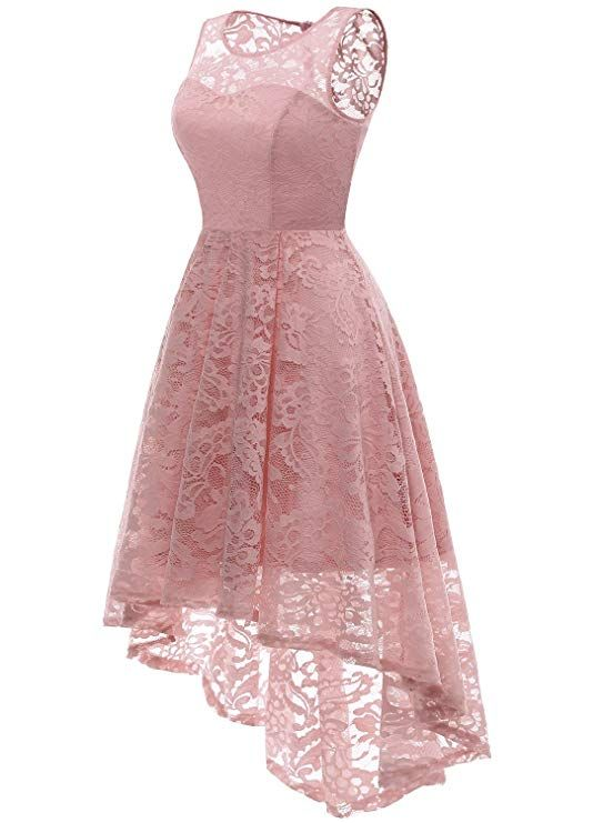 ada1880e4db0 MUADRESS Women s Vintage Floral Lace Sleeveless Hi-Lo Cocktail Formal Swing  Dress at Amazon Women s Clothing store