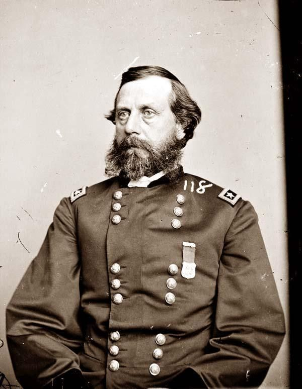 Gen.Orlando Bolivar Willcox (April 16, 1823 – May 11, 1907) On December 12, 1864, President Abraham Lincoln nominated Willcox for appointment to the brevet grade of major general of volunteers to rank from August 1, 1864.  Following the Siege of Petersburg, he led the first troops to enter Petersburg, Virginia, before ending the war serving in North Carolina.  He was mustered out of the volunteers on January 15, 1866.