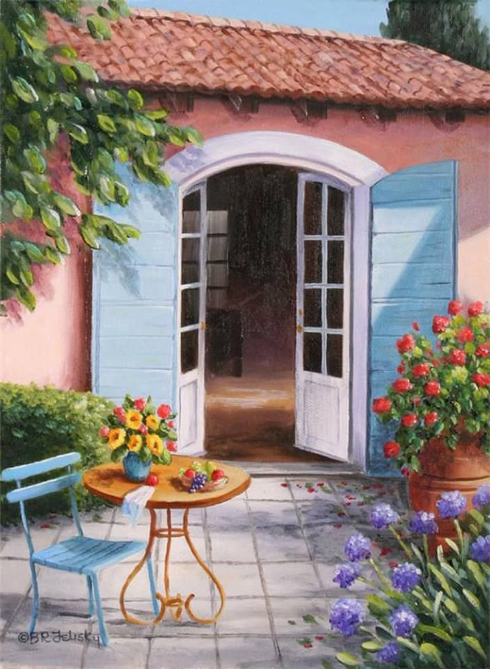 Lovely Outdoor Terrace ~ Barbara Rosbe Felisky