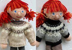 Ravelry: Circular Yoke Sweater for Arne & Carlos dolls pattern by Maria Strikker
