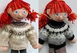 Ravelry: Circular Yoke Sweater for Arne & Carlos dolls pattern by Maria Strikker