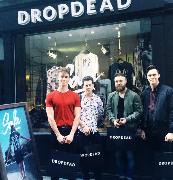 Don Broco made a trip to Drop Dead's London Store the other day to stock up before the Kerrang Awards.