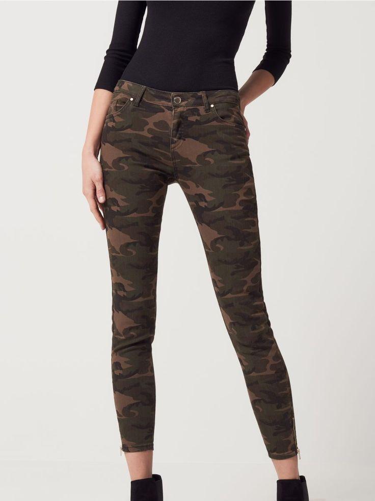 Камуфляжные джинсы в стиле милитари AFTER HOURS, MOHITO, QF434-87X