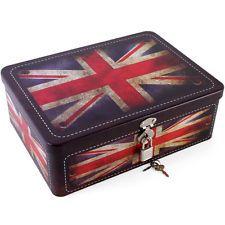 Distressed Union Jack Storage Box With Lock u0026 Key-Brand New!  sc 1 st  Pinterest & 384 best England Love: Home Accessories images on Pinterest | Union ...