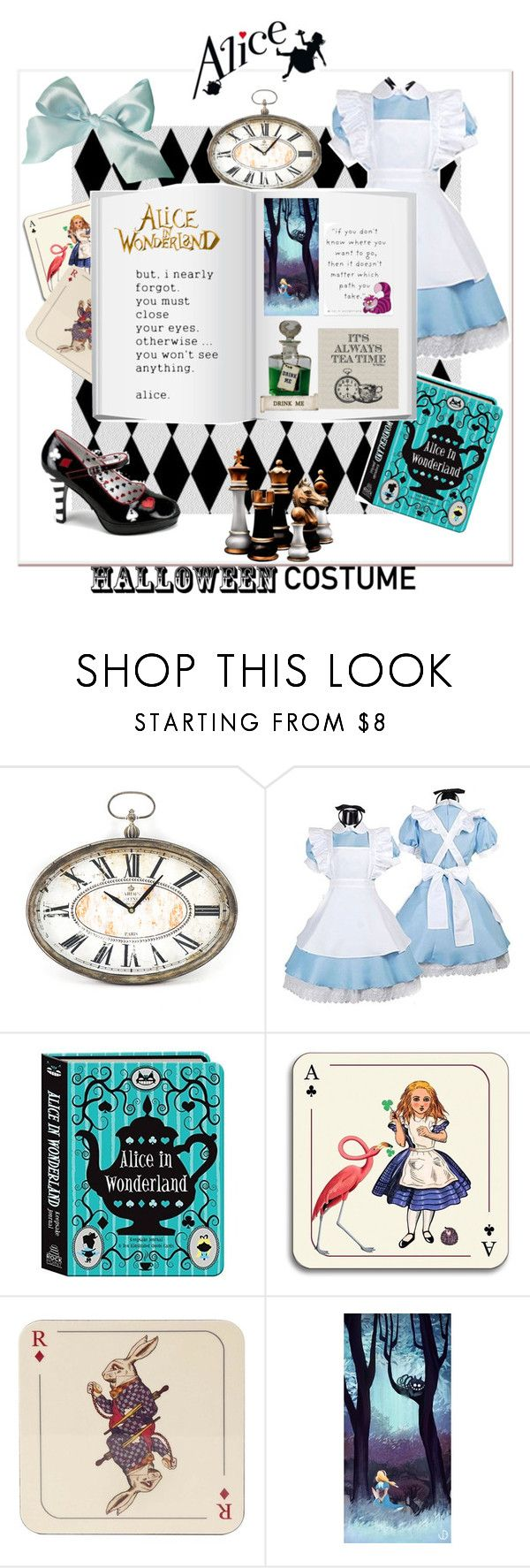 """""""Just Alice 🎩🐇"""" by thefakecake ❤ liked on Polyvore featuring Zentique, Avenida Home, Disney, fun, Alice, favoritestory and Hallowee"""