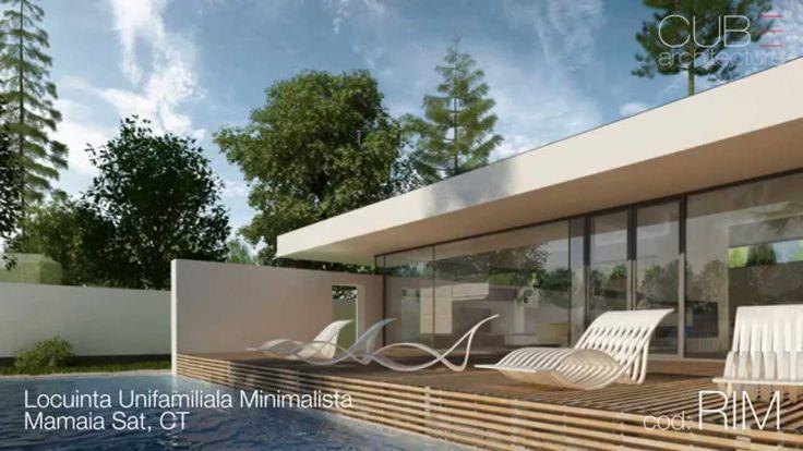 Proiecte case   Locuinta Unifamiliala Minimalista, Mamaia, CT   cod RIM
