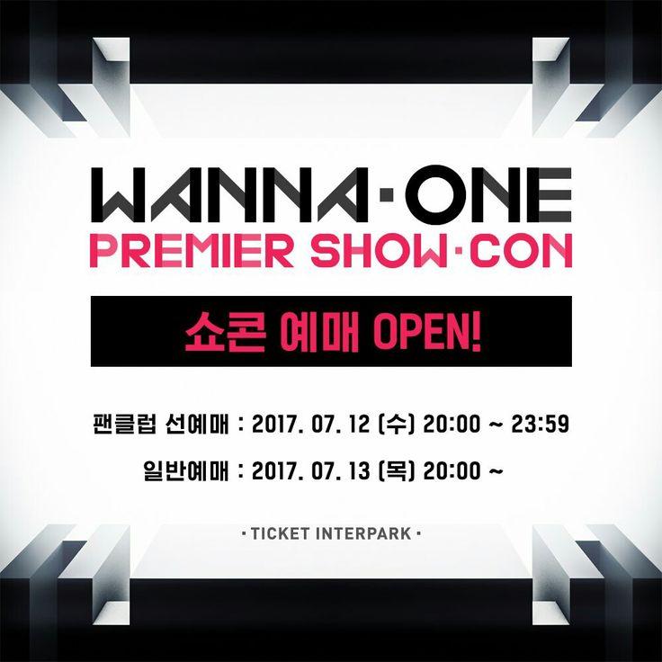 Wanna One Premier Show-Con 예매 오픈 안내  오늘 오후 8시, 인터파크에서 Wanna One 팬클럽 선예매 오픈이 됩니다. 자세한 사항은 아래의 링크을 참고해주세요♥ ▶ 예매처 : https://t.co/IanhM8Uacj https://t.co/oq40hcmnrZ