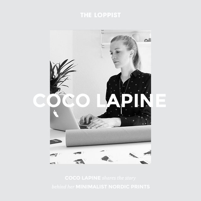 Coco Lapine Shares The Story Behind Her Minimalist Nordic Prints