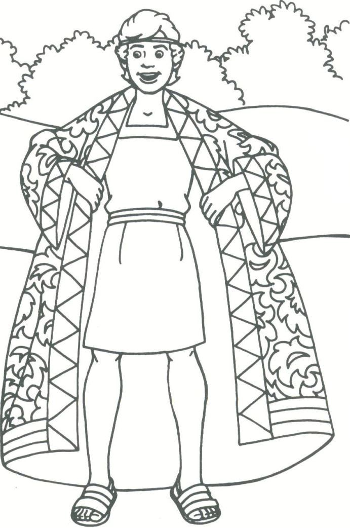 Josephs Coat Coloring Page