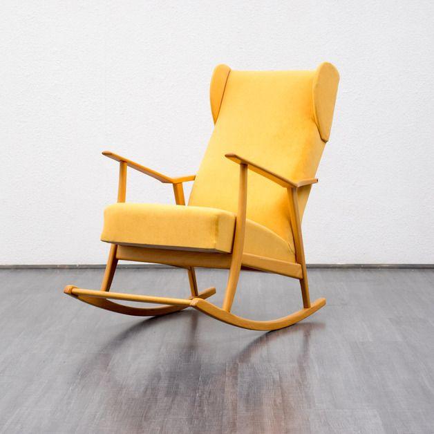 50er Jahre Schaukelstuhl // 50ies rocking chair via DaWanda.com