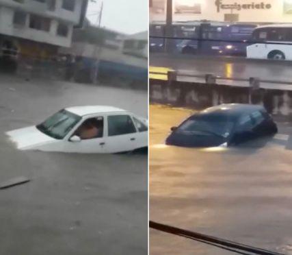 """Samochody """"pływały"""" po ulicach. http://tvnmeteo.tvn24.pl/informacje-pogoda/swiat,27/samochody-plywaly-po-ulicach,191396,1,0.html"""