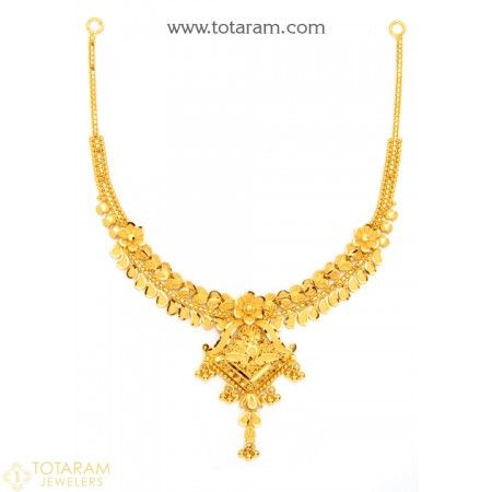 22K Gold Necklace for Women - 235-GN1893 - Buy this Latest Indian Gold Jewelry Design in 16.200 Grams for a low price of  $894.39