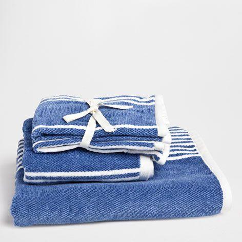 GESTREEPTE HANDDOEK MET CONTRAST - Handdoeken en badjassen - Badkamer   Zara Home Netherlands
