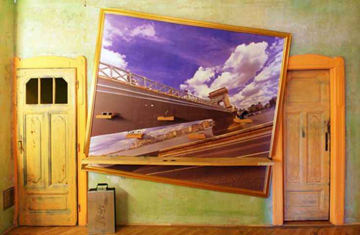 Budapest chain bridge view