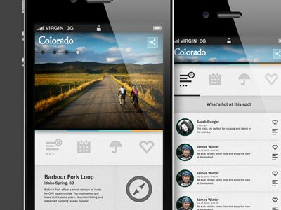 Dribbble - Colorado Tourism by C.Rowe