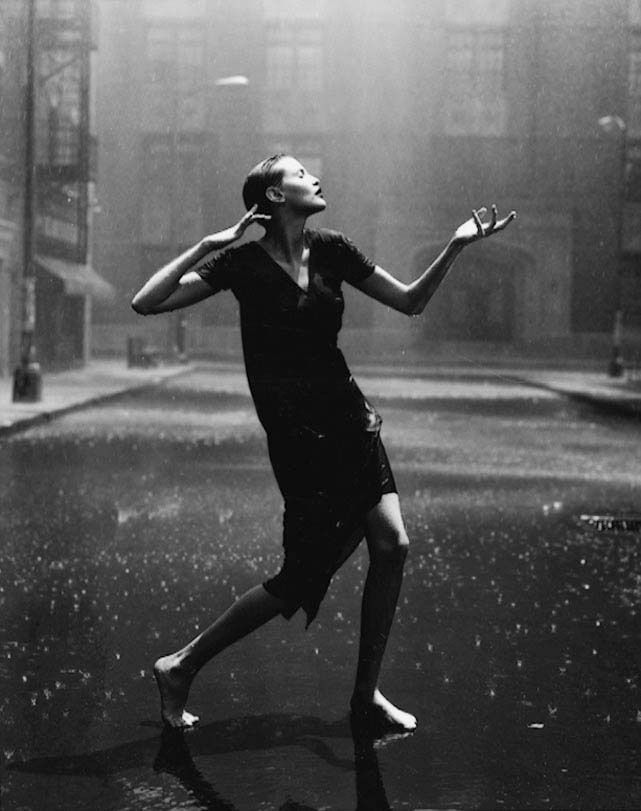 "Peter Lindbergh - ""Nadja Auermann, Paramount Studios, Hollywood, USA 1996"""